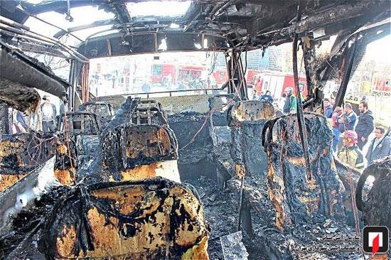 آتشسوزی اتوبوس بین شهری در جنوب تهران - 10