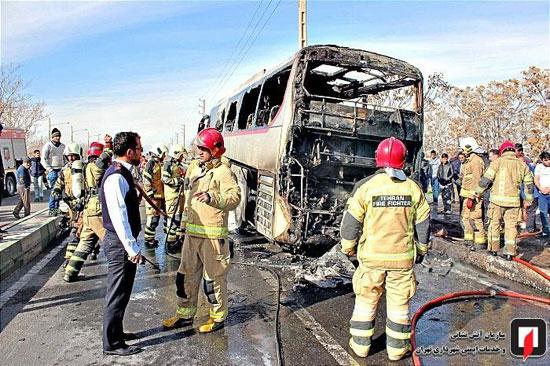 آتشسوزی اتوبوس بین شهری در جنوب تهران - 4