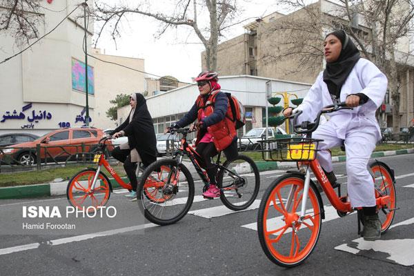 تصاویری از بانوان دوچرخهسوار در تهران - 4