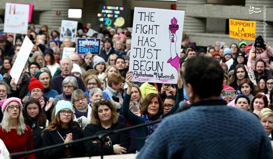 تظاهرات زنان آمریکایی علیه ترامپ - 9