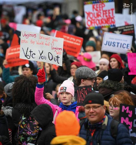 تظاهرات زنان آمریکایی علیه ترامپ - 7