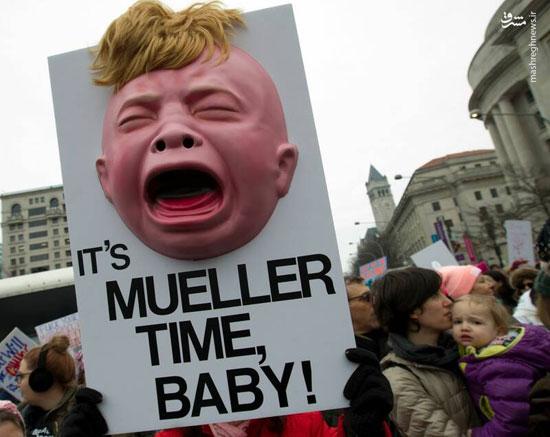 تظاهرات زنان آمریکایی علیه ترامپ - 14
