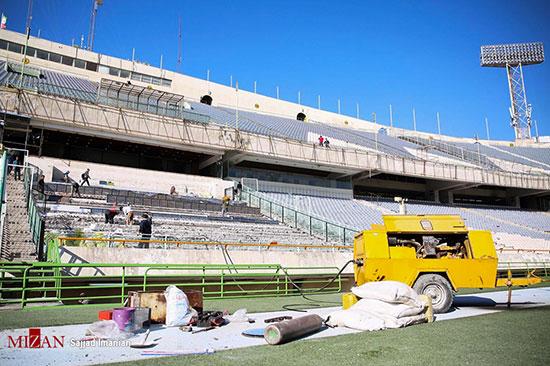 آماده سازی ورزشگاه آزادی برای دیدار فینال آسیا - 14