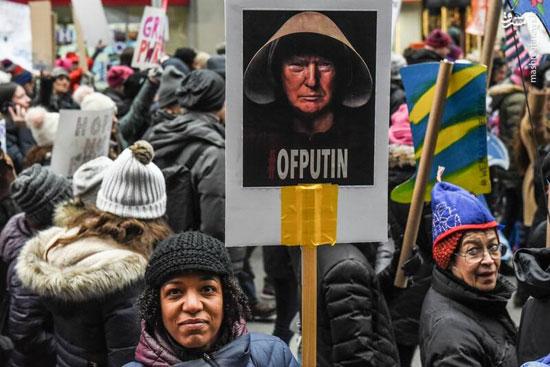 تظاهرات زنان آمریکایی علیه ترامپ - 12