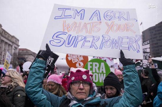 تظاهرات زنان آمریکایی علیه ترامپ - 10