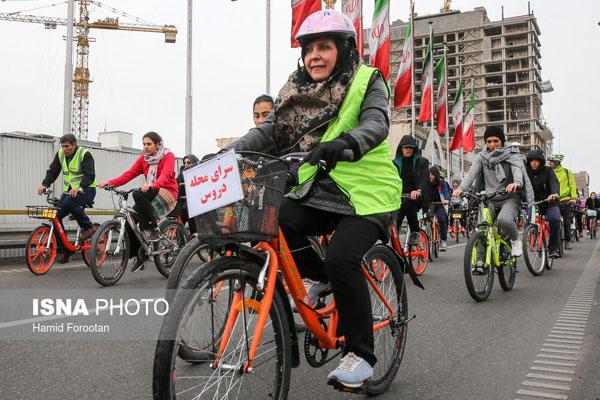 تصاویری از بانوان دوچرخهسوار در تهران - 9