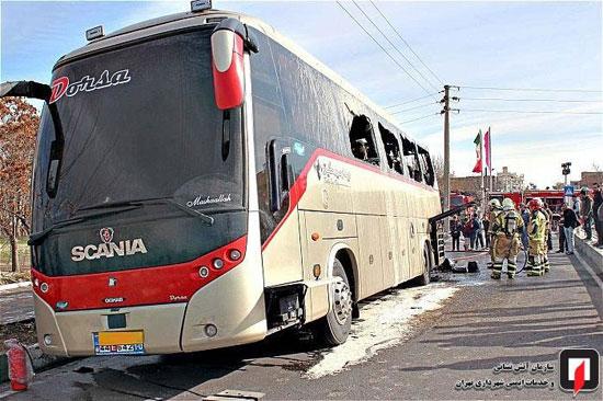 آتشسوزی اتوبوس بین شهری در جنوب تهران - 11