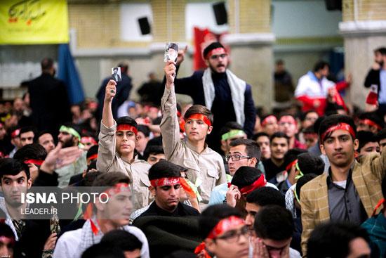 دیدار دانشآموزان و دانشجویان با رهبر انقلاب - 7