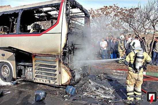 آتشسوزی اتوبوس بین شهری در جنوب تهران - 12