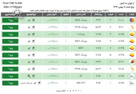 قیمت بلیت هواپیما برای تعطیلات ۲۲ بهمن - 8