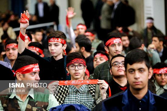 دیدار دانشآموزان و دانشجویان با رهبر انقلاب - 8