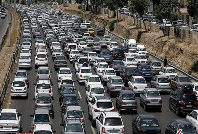 ترافیک سنگین در پل آزادگان تا بهشت زهرا، آزادراه قم و جاده قدیم