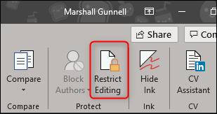 چگونه بخشی از یک فایل ورد را از ویرایش شدن محافظت کنیم؟ - 8