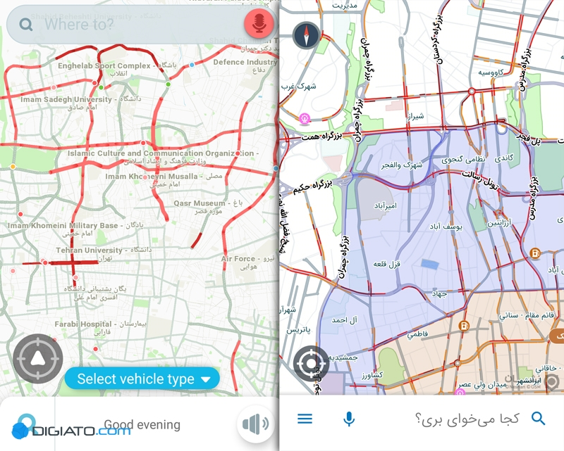 نشان در برابر ویز؛ مقایسهای میان مسیریاب ایرانی و خارجی - 7