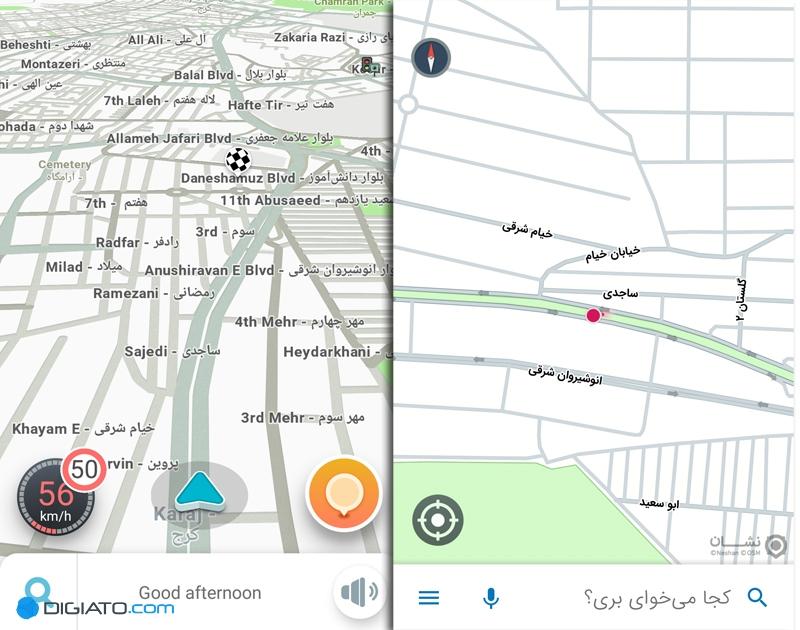 نشان در برابر ویز؛ مقایسهای میان مسیریاب ایرانی و خارجی - 51