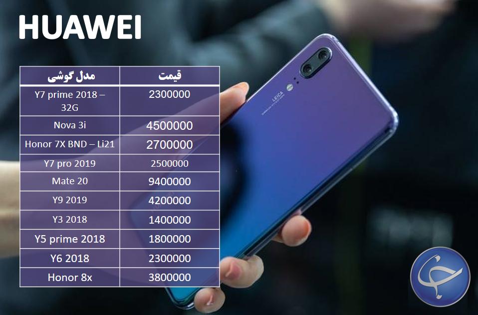 آخرین قیمت تلفن همراه در بازار +جدول - 9