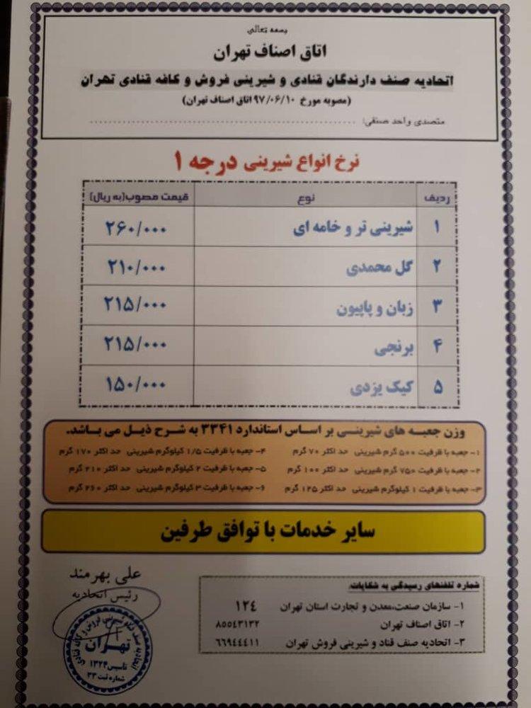 آخرین قیمتهای شیرینیهای عید و کاهش شدید خرید آجیل - 5