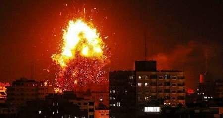 بیش از ۱۰۰ نقطه از غزه بمباران شد