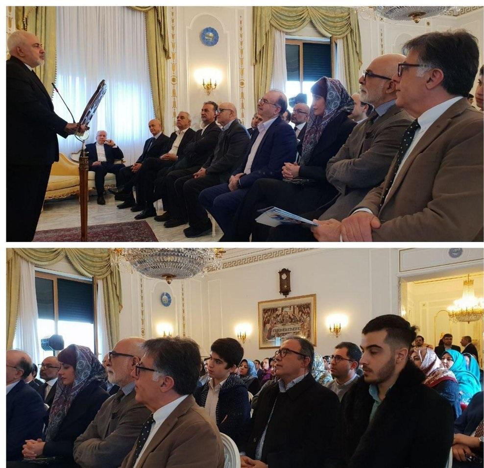 حضور ظریف در جمع ایرانیان مقیم رم +عکس - 3