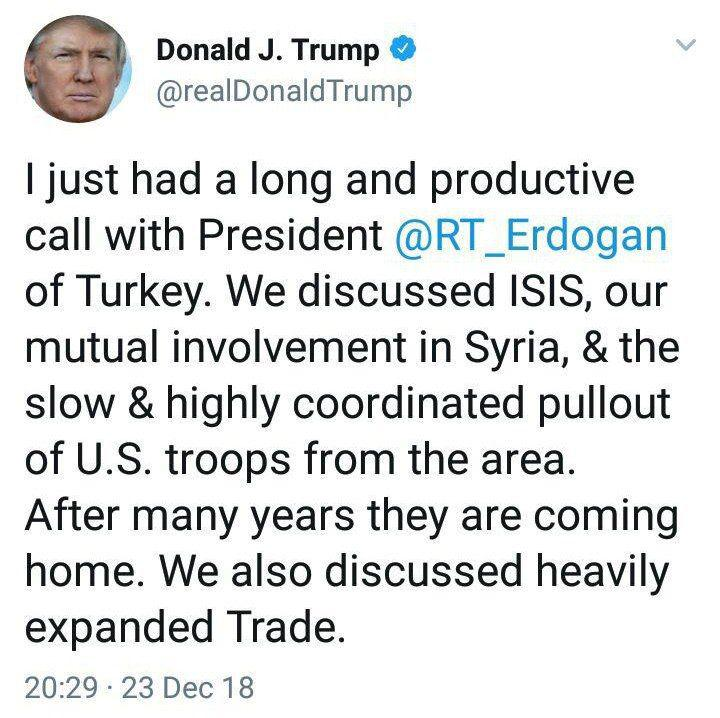 ترامپ و اردوغان درباره خارج شدن از سوریه گفتوگو کردند +عکس - 6