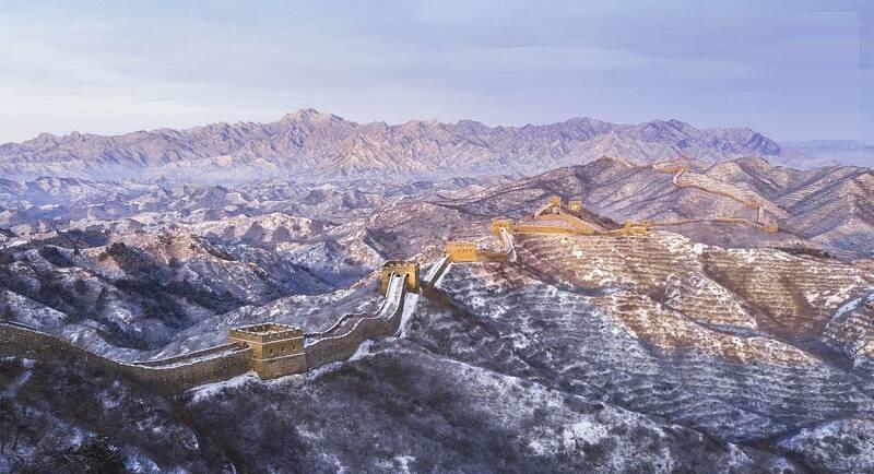 نمای برفی زیبا دیوار چین +تصاویر - 1