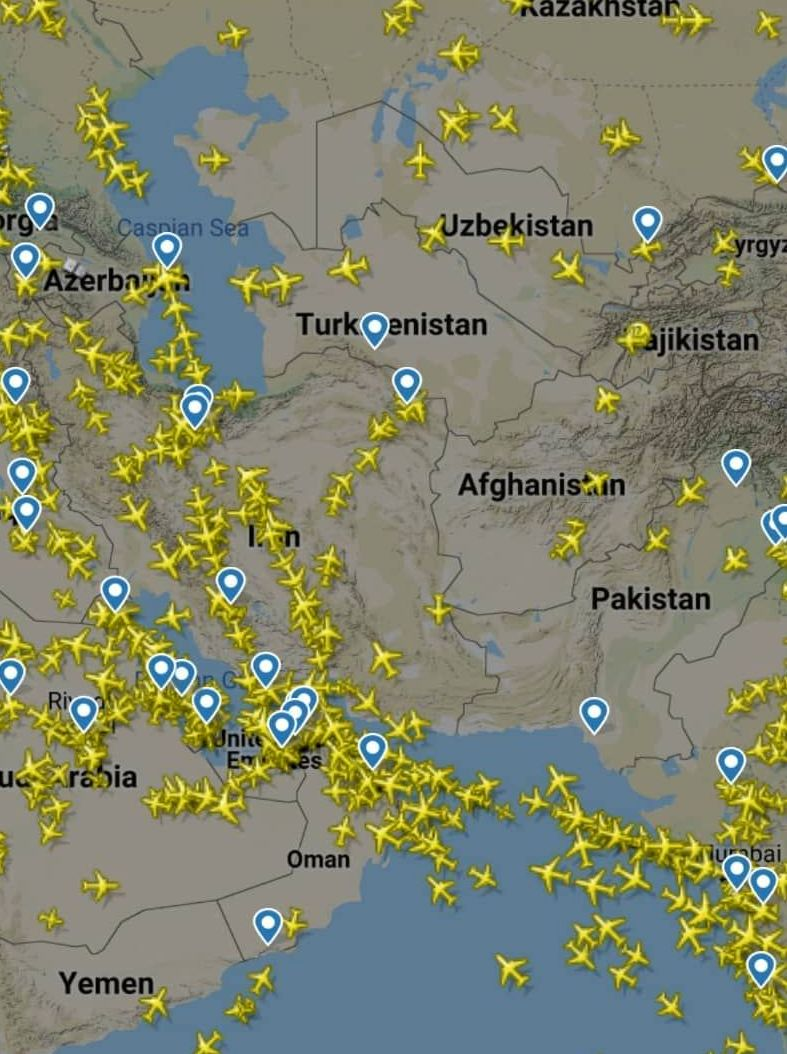افزایش پروازهای عبوری از ایران پس از تنش پاکستان و هند - 3