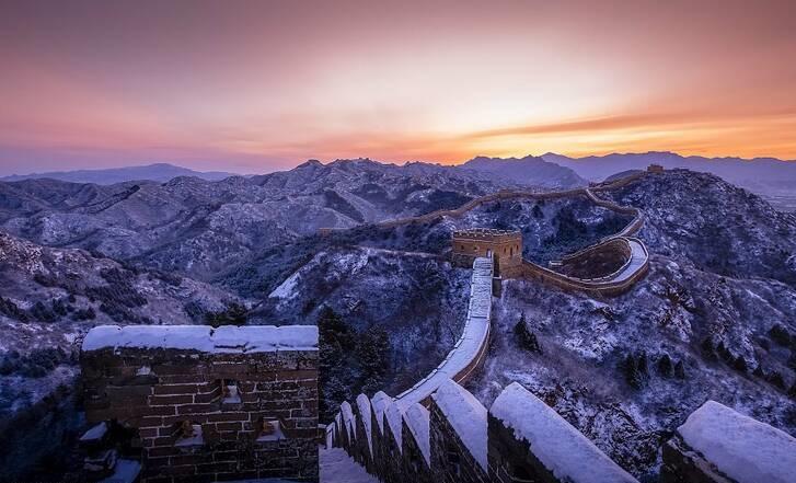 نمای برفی زیبا دیوار چین +تصاویر - 7