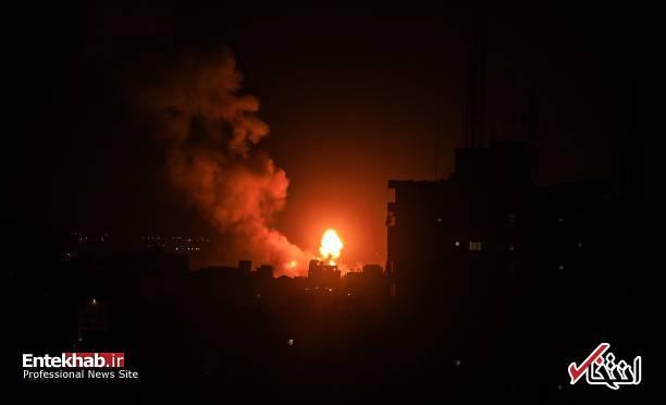 عکس/ حمله جنگندههای اسرائیل به نوار غزه - 4