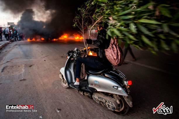 تصاویر: مسدود کردن خیابانهای بصره با آتش زدن لاستیک - 2