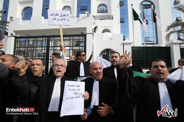 تصاویر: تظاهرات گسترده وکلا علیه عبدالعزیز بوتفلیقه - 12
