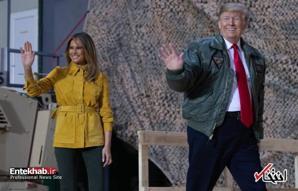 تصاویر: حاشیههایی از سفر ترامپ و همسرش به عراق - 16