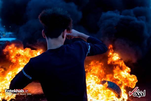 تصاویر: مسدود کردن خیابانهای بصره با آتش زدن لاستیک - 9