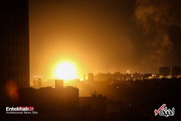 عکس/ حمله جنگندههای اسرائیل به نوار غزه - 6