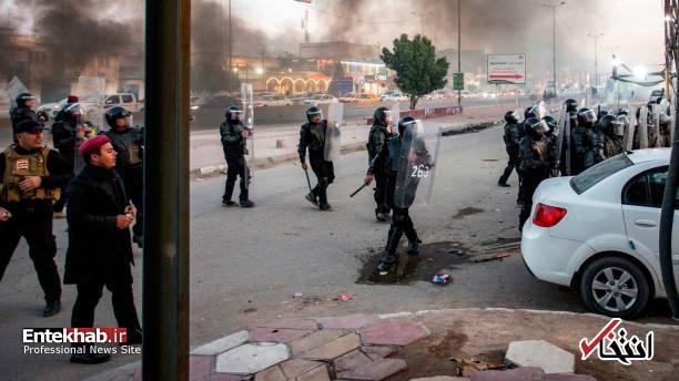 تصاویر: مسدود کردن خیابانهای بصره با آتش زدن لاستیک - 15