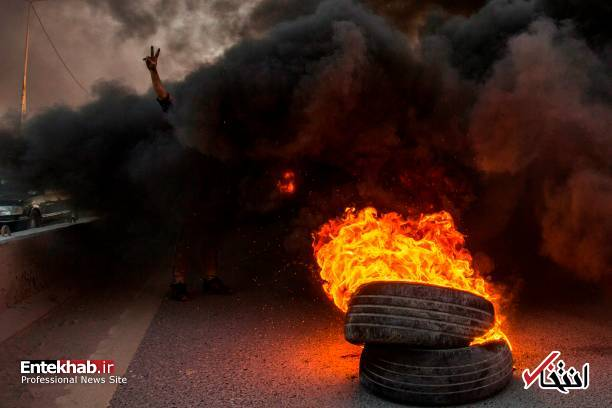 تصاویر: مسدود کردن خیابانهای بصره با آتش زدن لاستیک - 5
