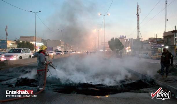 تصاویر: مسدود کردن خیابانهای بصره با آتش زدن لاستیک - 12