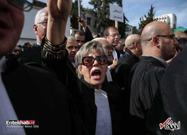 تصاویر: تظاهرات گسترده وکلا علیه عبدالعزیز بوتفلیقه - 0