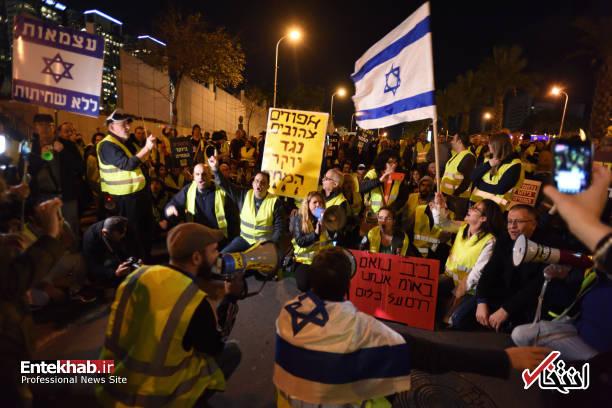 عکس/ تظاهرات جلیقه زردها علیه نتانیاهو در تل آویو - 0