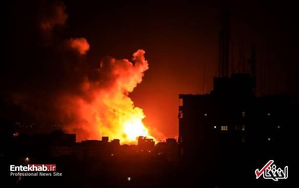عکس/ حمله جنگندههای اسرائیل به نوار غزه - 3