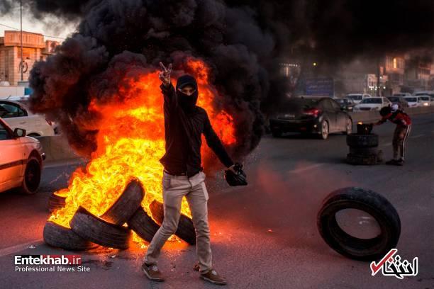 تصاویر: مسدود کردن خیابانهای بصره با آتش زدن لاستیک - 3