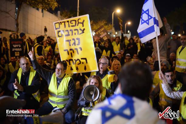 عکس/ تظاهرات جلیقه زردها علیه نتانیاهو در تل آویو - 5