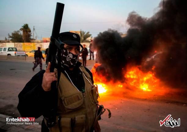 تصاویر: مسدود کردن خیابانهای بصره با آتش زدن لاستیک - 13