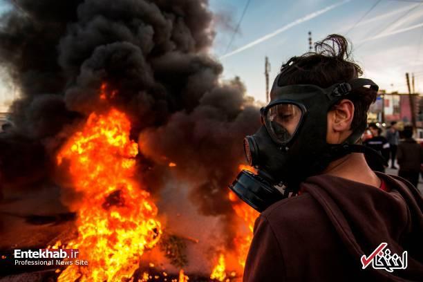 تصاویر: مسدود کردن خیابانهای بصره با آتش زدن لاستیک - 10