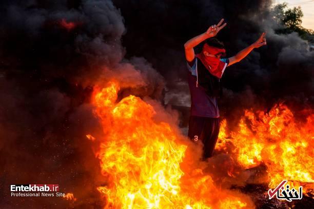 تصاویر: مسدود کردن خیابانهای بصره با آتش زدن لاستیک - 6