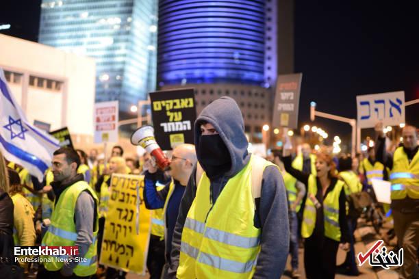 عکس/ تظاهرات جلیقه زردها علیه نتانیاهو در تل آویو - 3