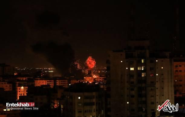 عکس/ حمله جنگندههای اسرائیل به نوار غزه - 5