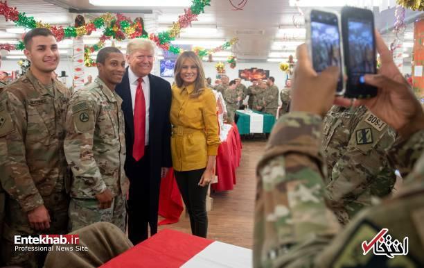 تصاویر: حاشیههایی از سفر ترامپ و همسرش به عراق - 4