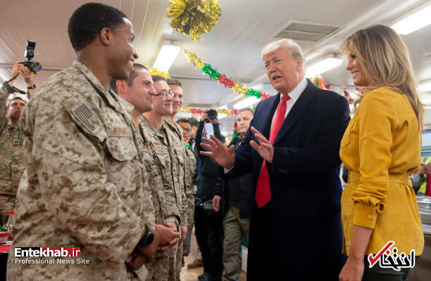 تصاویر: حاشیههایی از سفر ترامپ و همسرش به عراق - 11