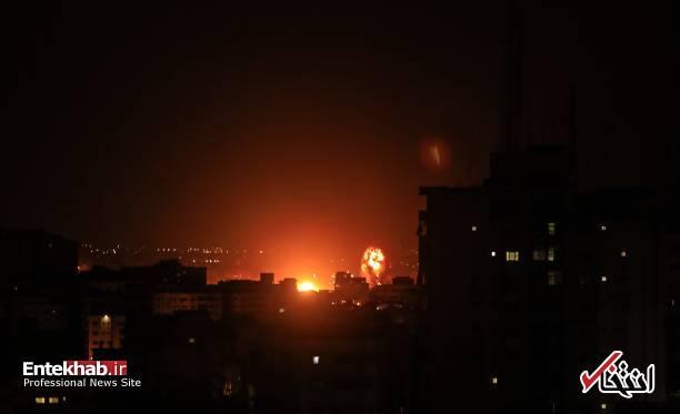 عکس/ حمله جنگندههای اسرائیل به نوار غزه - 8