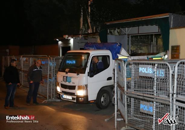 عکس/ تفتیش کنسولگری عربستان در استانبول توسط پلیس ترکیه - 8